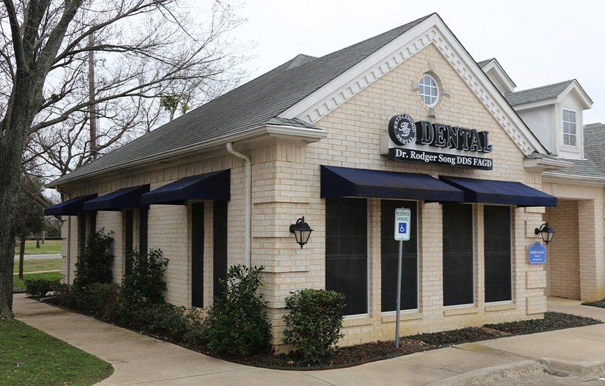 Outisde view of Flower Mound dental office