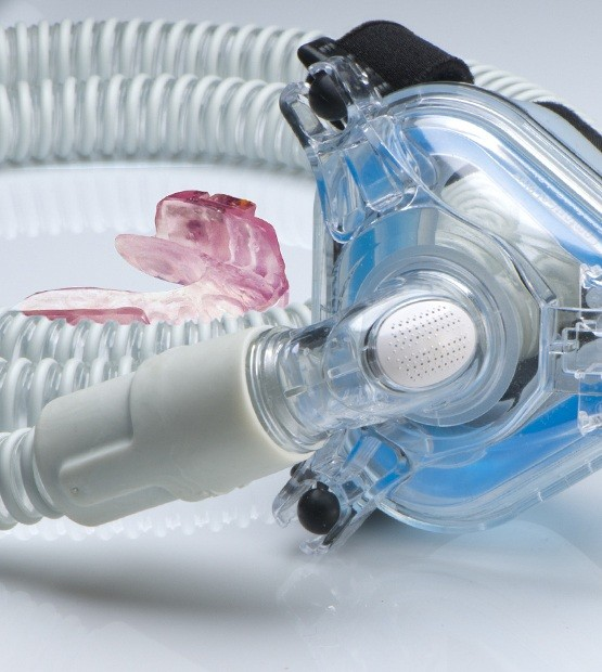 Sleep apnea oral appliance and C pap mask